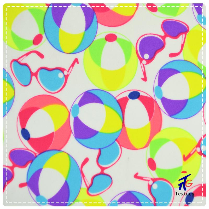 bright color print swimsuit fabric