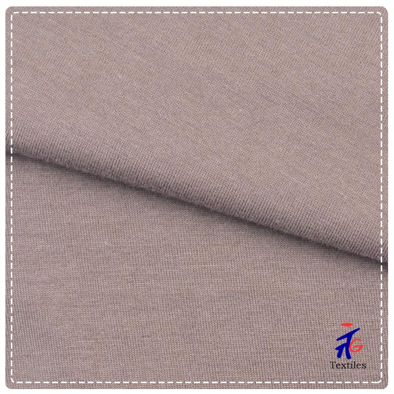 Brown Cotton Soft Nylon Spandex Knitted Fabric