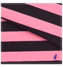 Pink and Black Stripes New Design Nylon Lycra Fabric for Swimwear