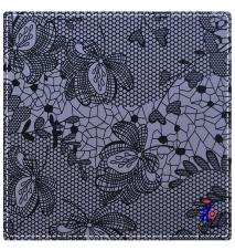 lightweight floral pattern mesh fabric
